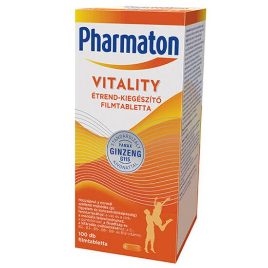 Pharmaton Vitality étrendkiegészítő filmtabletta 100x