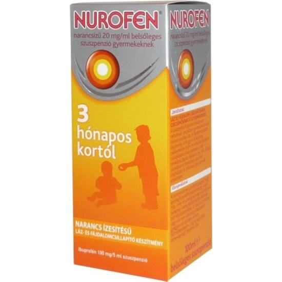 Nurofen  20mg/ml belsől.szuszpenzió gyerm.narancs 100ml