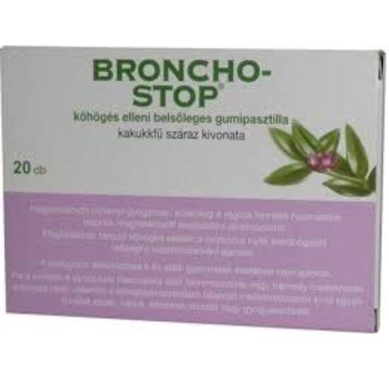 Bronchostop köhögés elleni belsőleg.gumipasztilla 20x