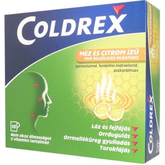 Coldrex citrom ízű por belsőleges oldathoz 10x