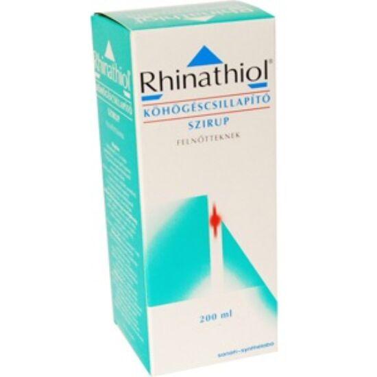 Rhinathiol 1,33 mg/ml köhögéscsill.szirup felnőtt. 1x200ml