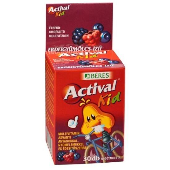Actival Kid rágótabletta erdei gyümölcs ízű 30x