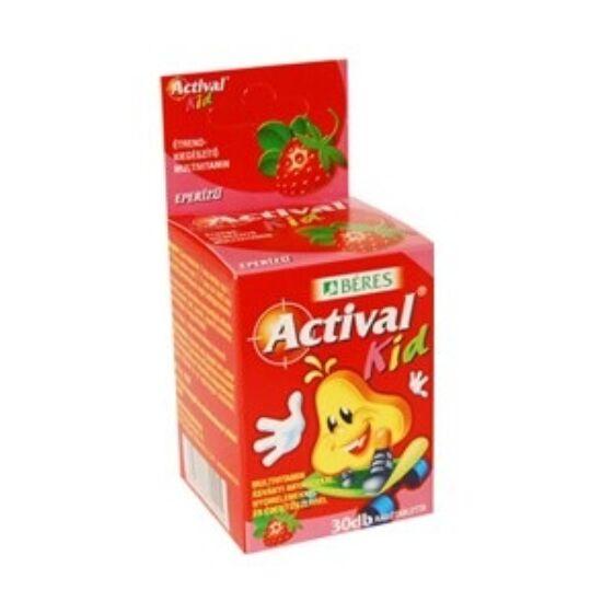 Actival Kid rágótabletta eper ízű 30x