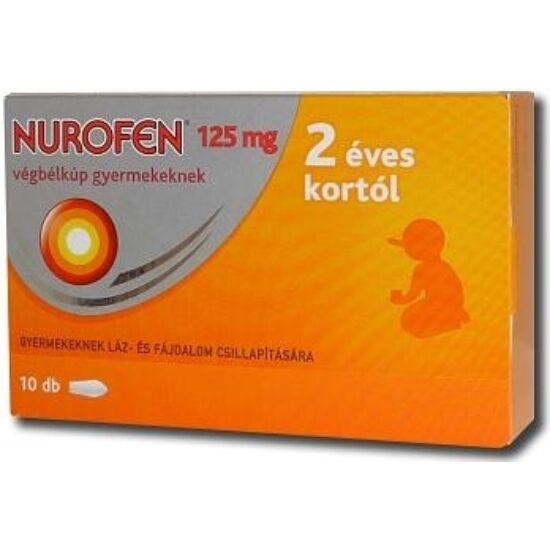 Nurofen 125 mg végbélkúp gyermekeknek 10x