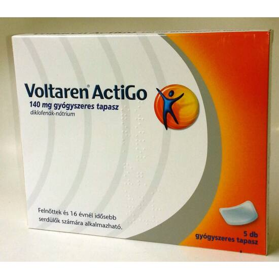 Voltaren ActiGo 140 mg gyógyszeres tapasz 5x