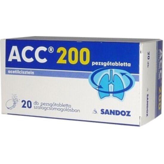 ACC 200 mg pezsgőtabletta tasakban 20x