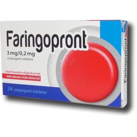 Faringopront 3mg/0,2mg szopogató tabletta 24x