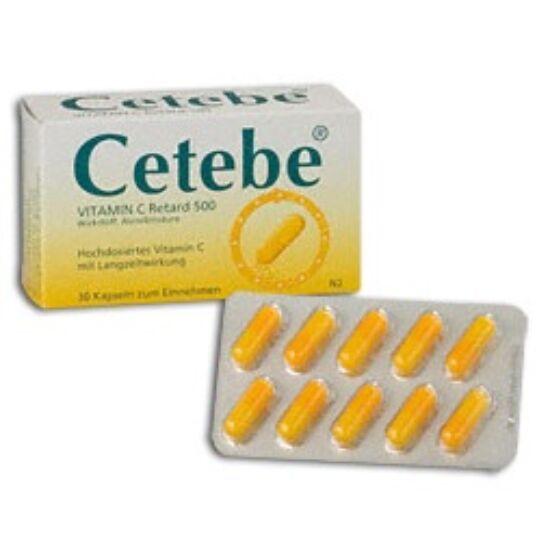 Cetebe 500 mg retard kemény kapszula 30x blisz.