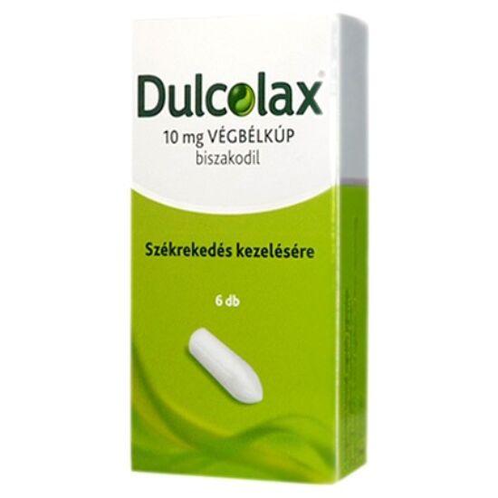 Dulcolax 10 mg végbélkúp 6x