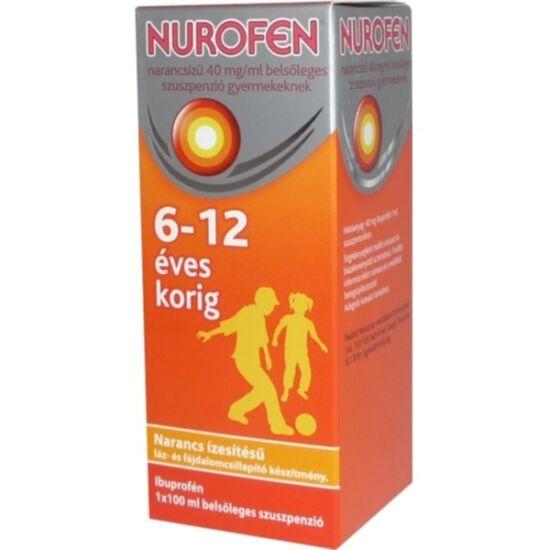 Nurofen  40mg/ml belsől.szuszpenzió gyerm.narancs 100ml