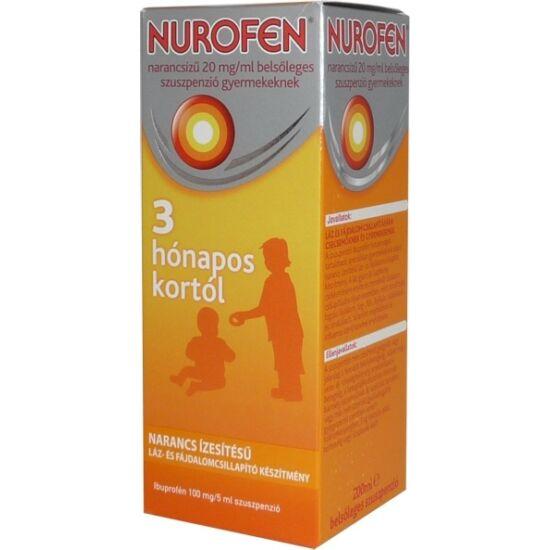 Nurofen  20mg/ml belsől.szuszpenzió gyerm.narancs 200ml