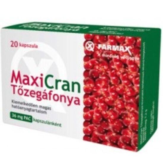 Farmax Maxicran tőzegáfonya kapszula 20x