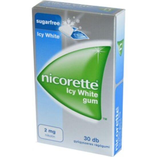 Nicorette Icy White gum 2 mg gyógyszeres rágógumi 30x