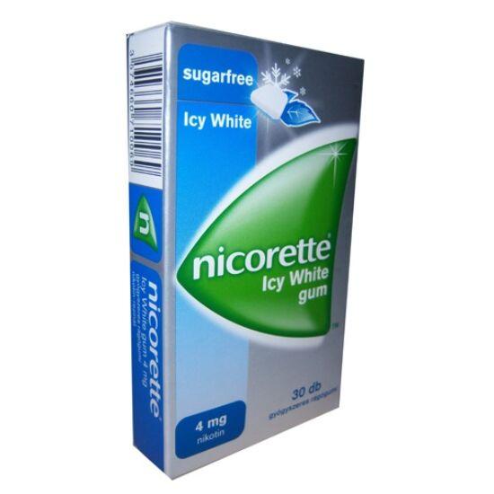 Nicorette Icy White gum 4 mg gyógyszeres rágógumi 30x