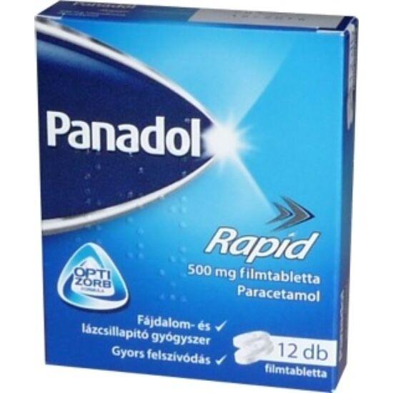 Panadol Rapid 500 mg filmtabletta 12x bubor.