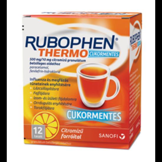Rubophen Thermo 650mg/10mg gran. cukormentes citrom 12x