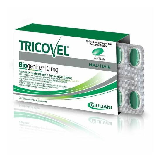 Tricovel Biogenina 10mg hajtápláló vitamin tableta Duo Pack 2x30db