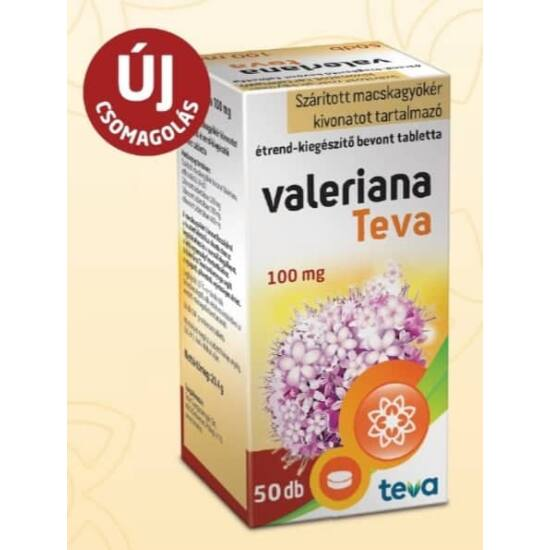 Valeriana TEVA  100 mg filmtabletta 50x