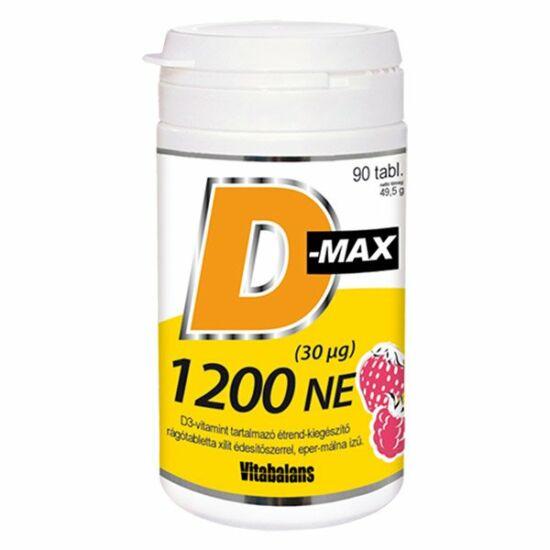 Vitabalans oy D-Max 1200NE rágótabletta 90x