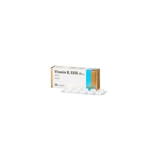 Vitamin B6 EGIS 20 mg tabletta 20x