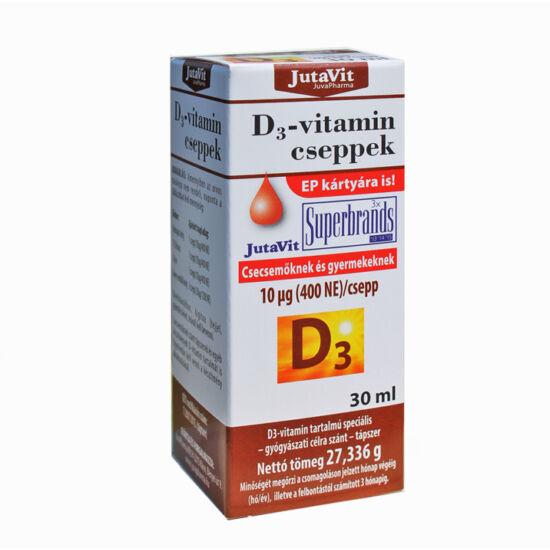 JutaVit D3 csepp (400 NE) Csecsemőknek és Gyermekeknek 30 ml