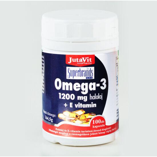 JutaVit Omega-3 Halolaj 1200mg + E-vitamin 100 db