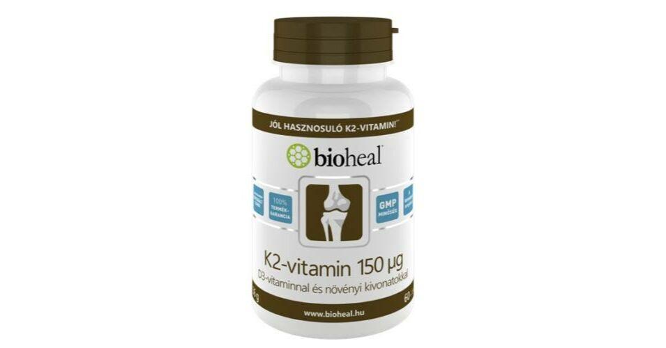 Bioheal K2 vitamin D3 vitaminnal és növényi kivonatokkal..
